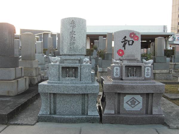 二墓共和洋型墓石(神徒型墓石)